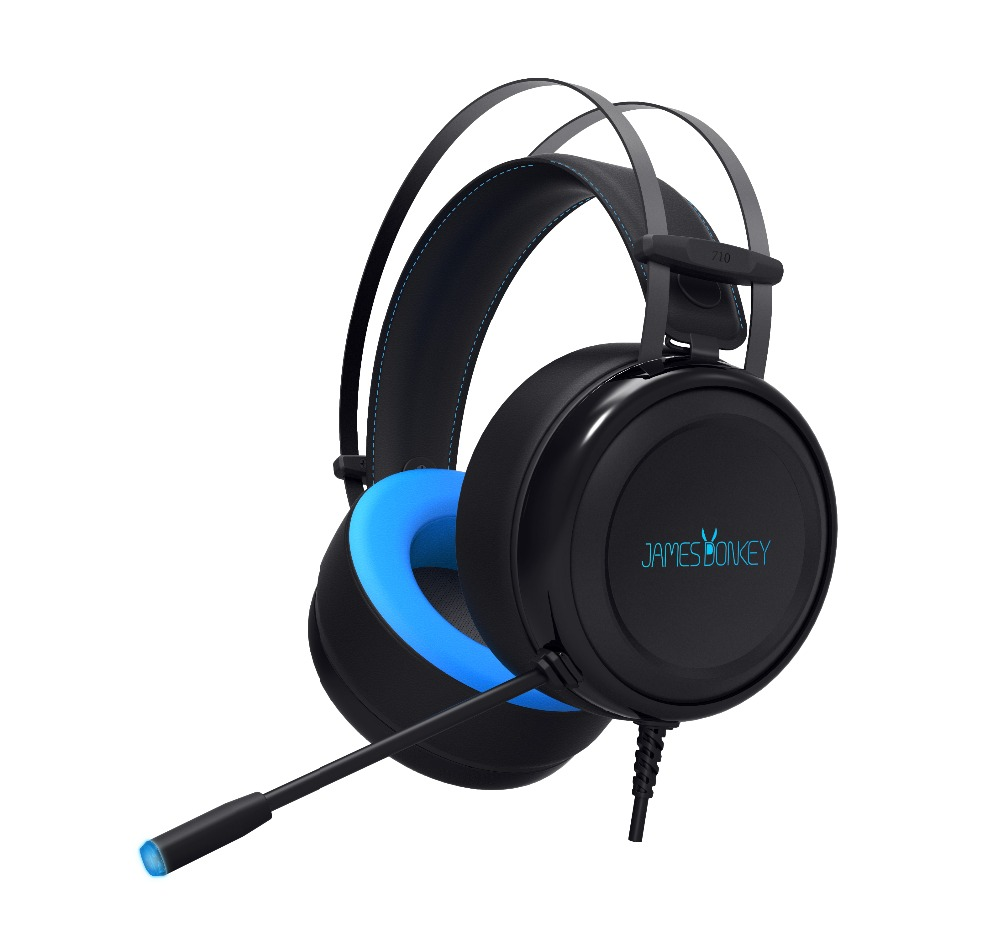 JAMES âne 710 casque de jeu avec Microphone 7.1Surround Cool Design casque de jeu pour PC téléphone Mobile Xbox jeu écouteur