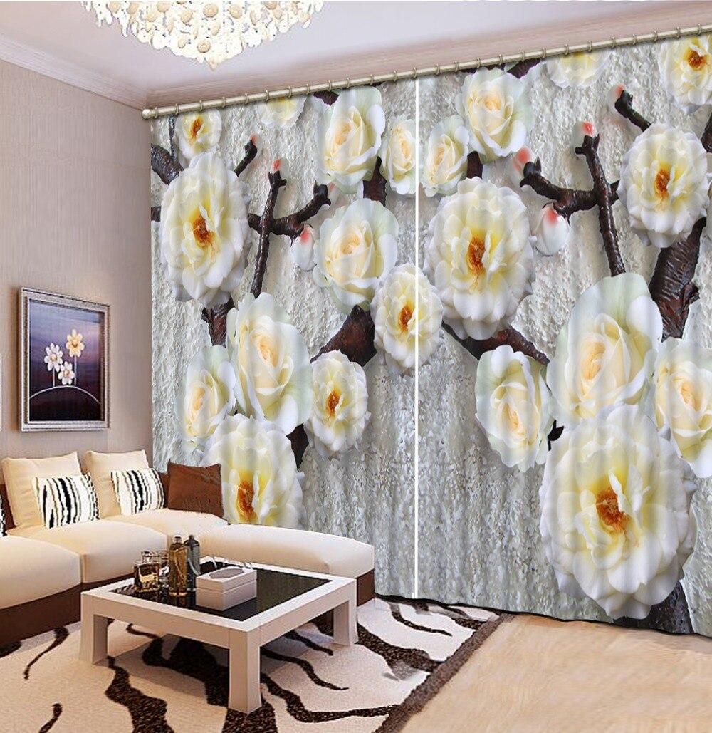 3D затемненные оконные шторы для гостиной, постельные принадлежности, комнаты, отеля/офиса, шторы с тиснением, трехмерные сливовые 3D шторы