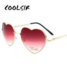 Glasses Heart Reflective Sunglasses Womens Sun Shaped Love Fashion Women Metal Frames Goggle