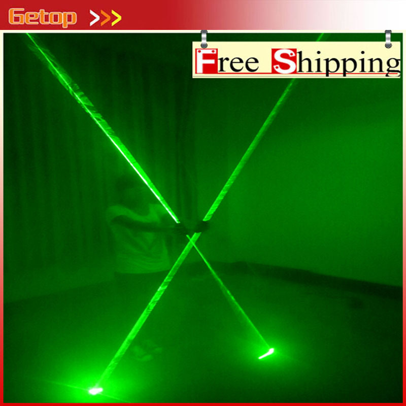 ZX Green Color Mini Dual Direction Green Laser Sword For Laser Man Show 532nm 200mW Double-Headed Wide Beam Laser Party Supplies