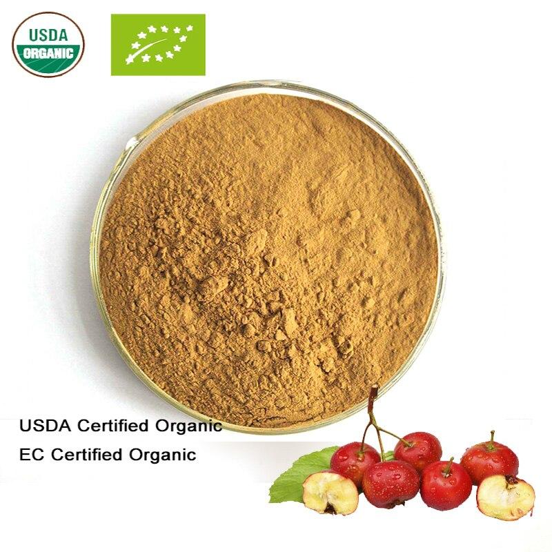 Schönheit & Gesundheit Usda Und Ec Certified Organic Weißdorn Obst Extrakt 10:1 Weißdorn Flavanone GroßEr Ausverkauf