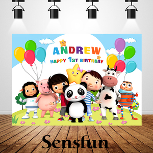 Image 4 - Little Baby Bum Theme Backdrops Newborn Baby 1st Birthday Custom name and age Photography Photobooth Birthday Party Banner