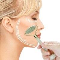 New 2018 Fashion Roller Jade Massager Natural Jade Guasha Facial Massage Jade Roller Face Body Massager Beauty Tool Skin Care
