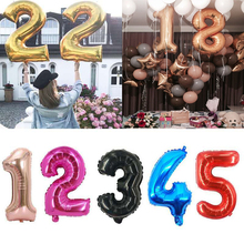 40inch Gold Number Foil Helium Balloons Wedding Birthday Party Decorations anniversaire Kids Adult baby shower mariage ballons foil number balloons birthday party decorations holiday diy decoration kids baby shower wedding decoration balls 40inch