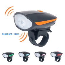 Deemount Bike Light Waterproof Bicycle Head LED Flashlight With Bell Multifunction Cycle Lamp MTB Cycling Accessories