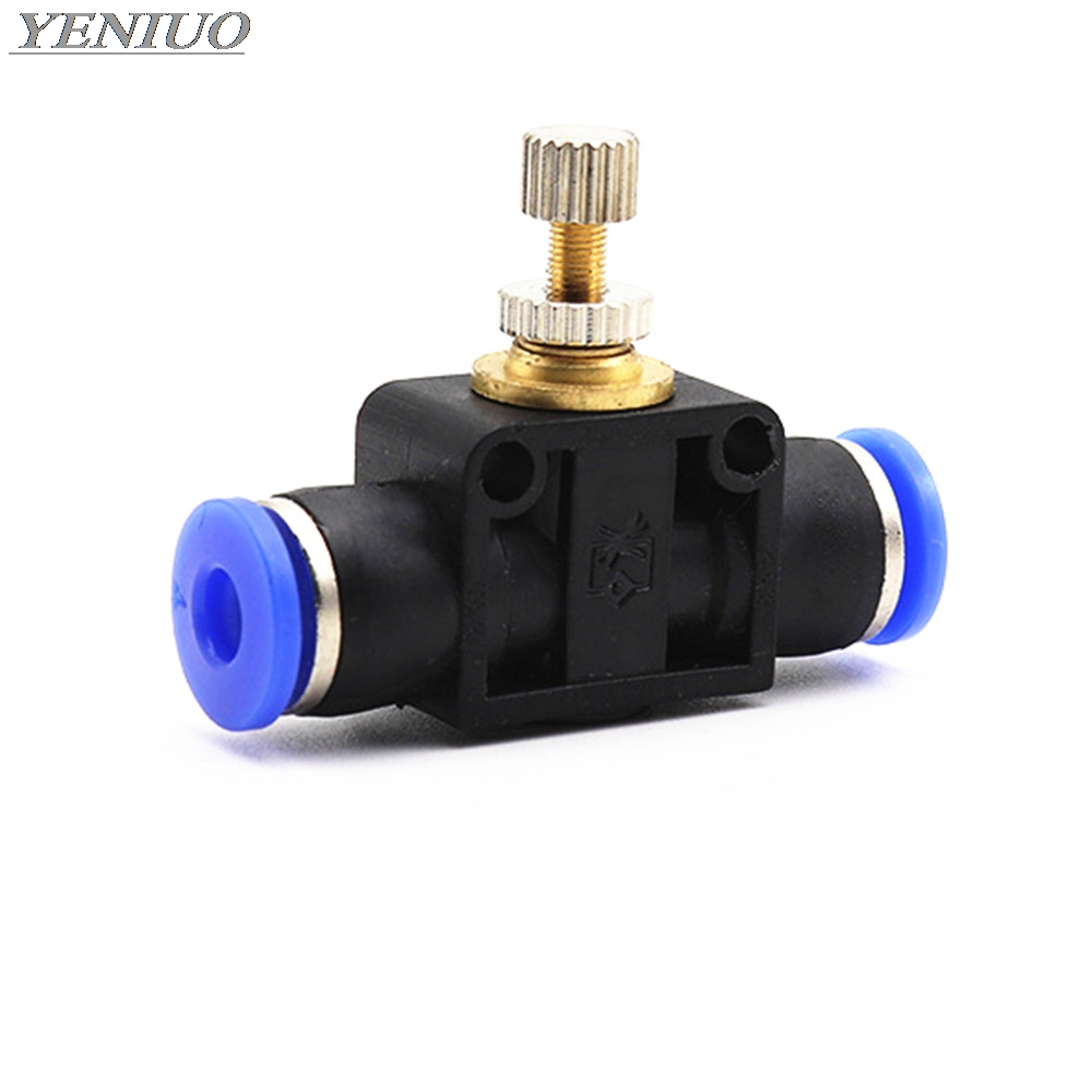 "SA"" Pneumatic Fittings 4mm to 12mm OD Hose Tube Gas Flow Adjust Valve Connector Fitting Air Speed Controller"