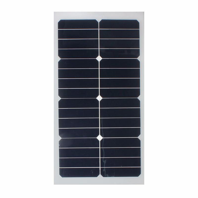 Universal Safety 20W 12V Semi Flexible Solar Panel Monocrystalline Super thin Sun Power for Battery Charger