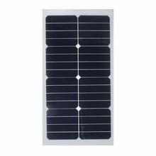 Sécurité universelle 20 W 12 V Semi Flexible Panneau Solaire Monocristallin Super-mince Puissance Solaire pour Batterie Chargeur Caravane en plein air + Puce