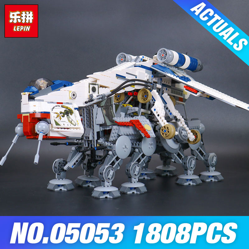 Lepin 05053 Star New Wars 1788Pcs Genuine Series The Republic Dropship Set Building Blocks Bricks Children Educational Toy 10195 new lepin 16009 1151pcs queen anne s revenge pirates of the caribbean building blocks set compatible legoed with 4195 children