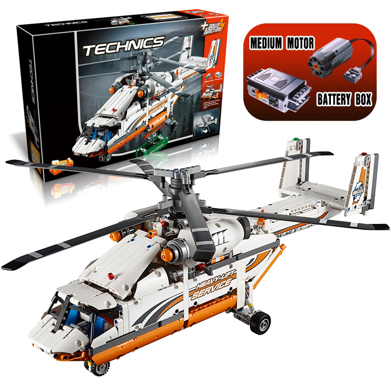 ФОТО Lepin 20002 Heavy Lift Helicopter Technic Plane Building Bricks Blocks Set New year Gift Toys for Children Boy ecudational 42052