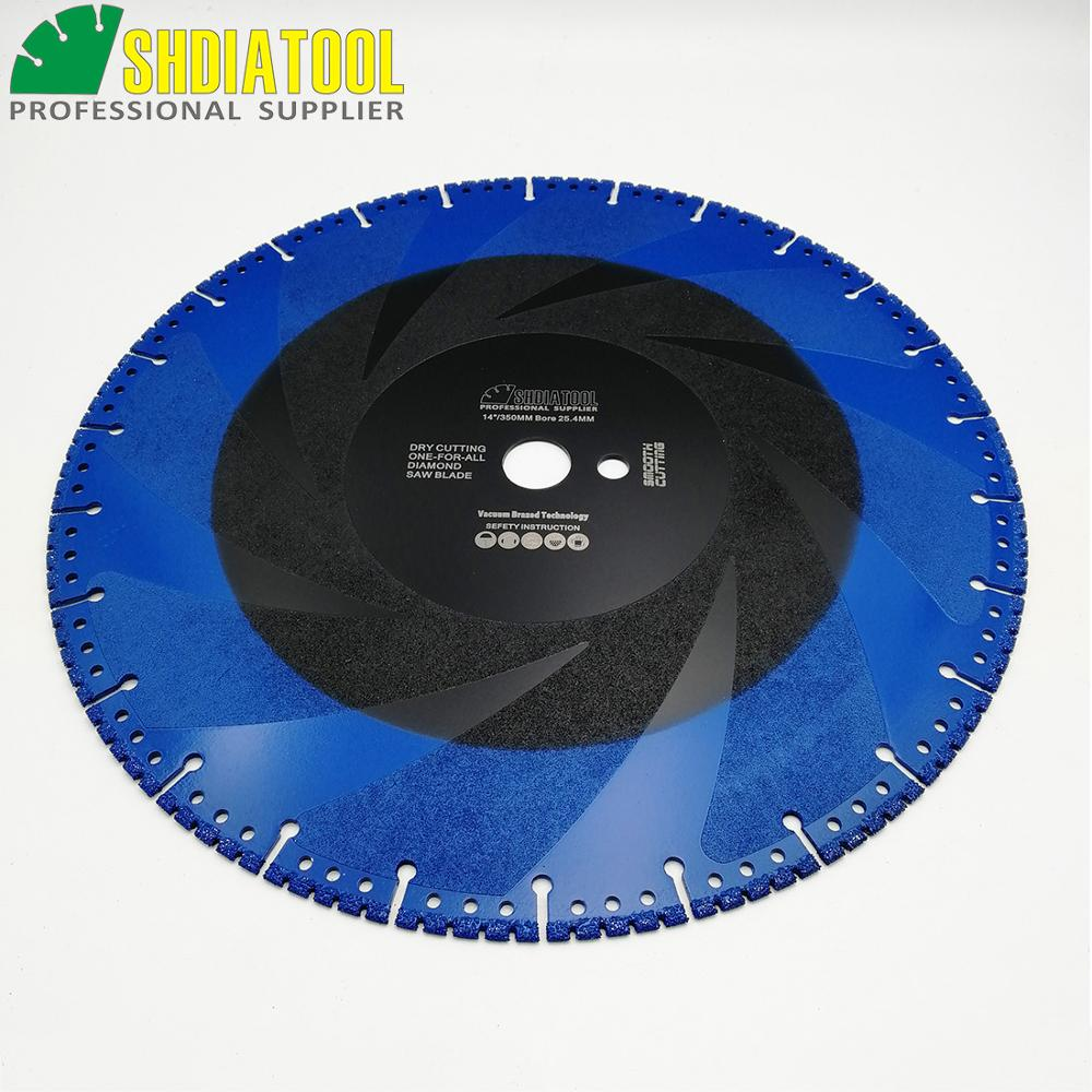 DT DIATOOL 2pcs 350mm/14 Vacuum Brazed Diamond Cutting Disc one for all Blade Rescue Saw Blade Cast Iron rebar Steel Pipe Stone - 5