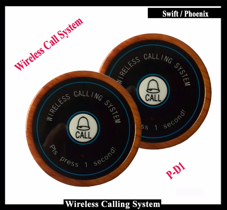 Waiter Buzzer Call button With Grey Color Installed on Table for Wireless Calling System( One set=5pcs) table wireless waiter call system for restaurant equipment receiver and waterproof buzzer ce 1 display 1 watch 9 call button