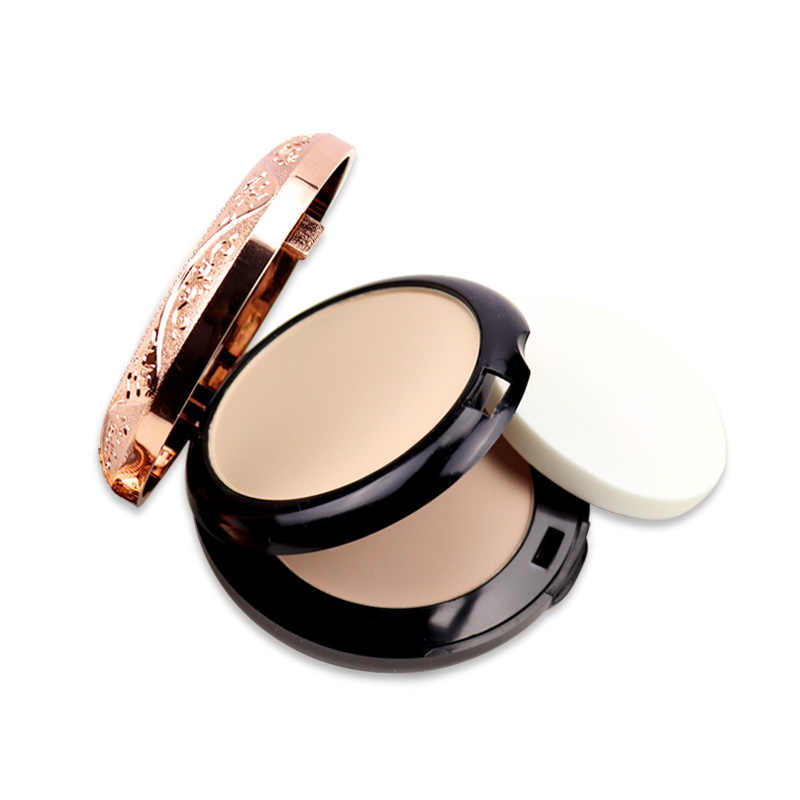 KAQIYA - 1002 Beauty Glazed Professional Full Coverage ยาวนาน Makeup Face Powder Foundation แป้ง Pressed Powder