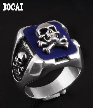 925 Silver Fashion skull Thai Silver Ring