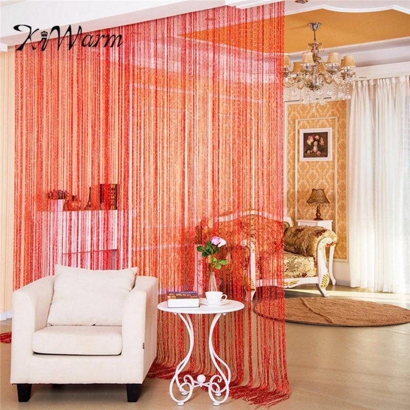 kiwarm colorful fashion string door curtain beads room divider window panel curtain hanging screen crystal fringe tassel beaded