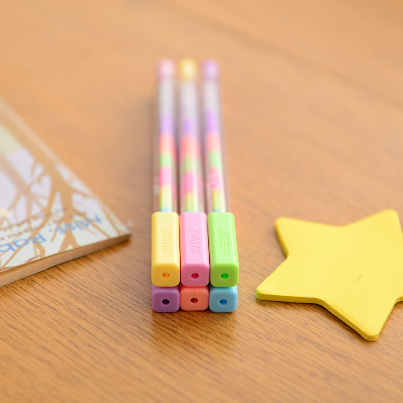 New Kawaii Water Chalk Paint Pen 6 Different Color Gel Pen for kid Gift Novelty Products Stationery Student 245