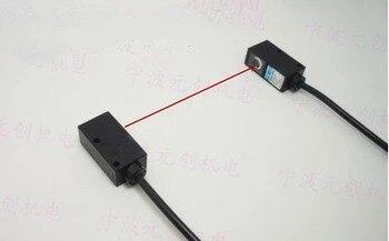 Бесплатная доставка % 100 новый квадратный лазерный фотоэлектрический датчик видимый свет на лазерном луче для съемки фотоэлектрический пер...