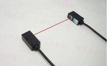 Livraison gratuite % 100 nouveau capteur photoélectrique laser carré lumière visible sur le faisceau laser pour tirer le commutateur photoélectrique NPN