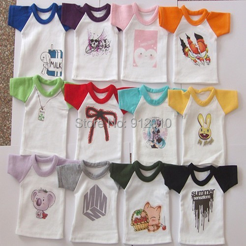 Free Match Color Print T Shirt  For ALL Size BJD Doll 1/12,1/8,1/6,1/4,1/3,SD16,SD17,Uncle Doll Clothes Customized CW84