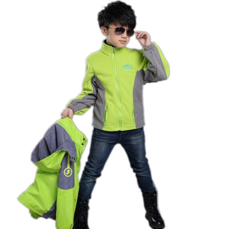 2018 Winter Children Outerwear Coat Sporty Waterproof Windproof 2pcs Boy Jackets Outerwear Sport Outdoor Teenage Boy Jacket