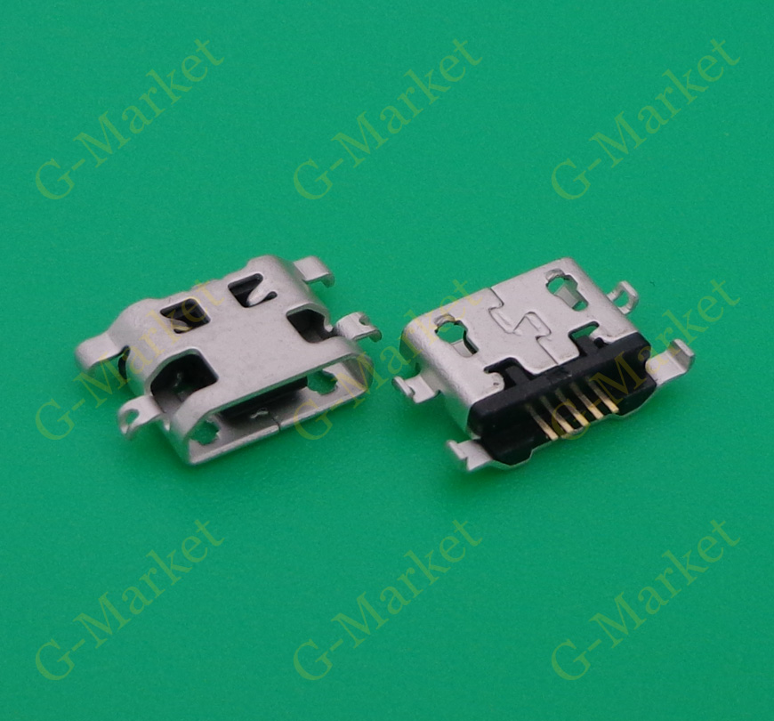 500pcs For <font><b>Alcatel</b></font> <font><b>6035R</b></font> Idol S 4033 4033D POP C3 C7 7041D micro usb charge charging jack connector plug dock socket port image