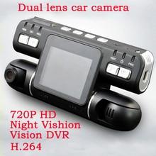 Dual lens car camera Video recorder Car DVR Auto camera H.264 Dual Camera 720P Night Vision Driving camera
