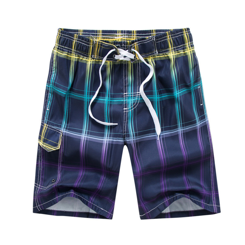 Plaid Print Summer Beach   Board     Shorts   Men Swimming   Shorts   Qiick Dry Swimwear Bermuda Surf Suits swim trunks male sports   shorts