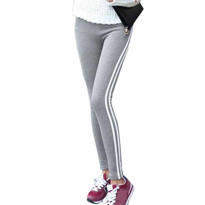 Women Lady Black Legging light grey Pant Activewear Spring Summer Autumn Mid Waist Leggins Y6