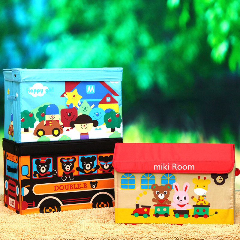 Large red house cute cartoon children 's toy storage box.Coat, quilt, debris, storage box