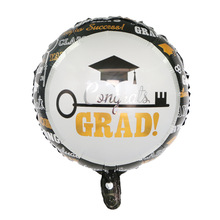 During graduation party ceremony decoration 18-inch doctorial hat ball grad air foil balloons