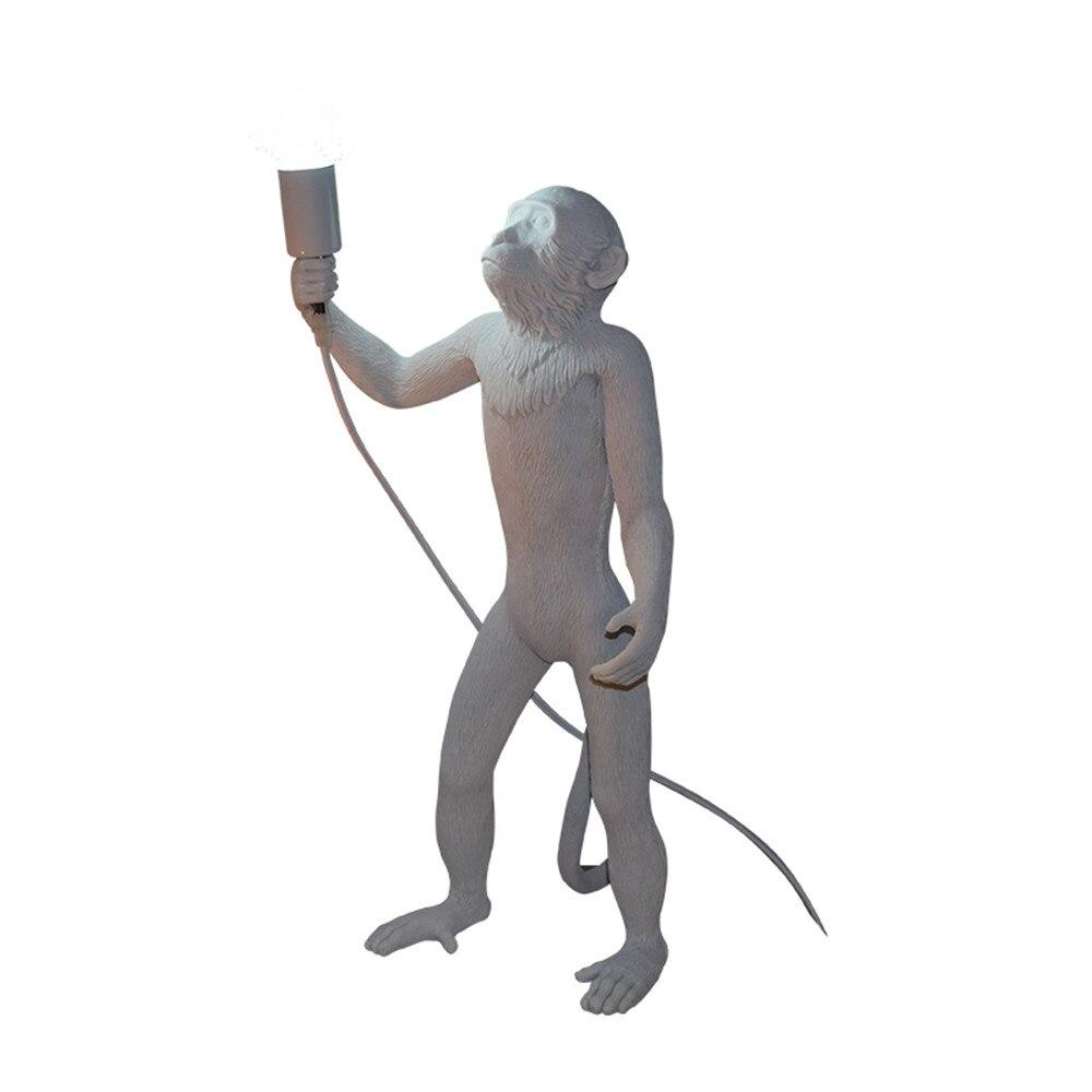 Modern Resin Art Monkey Floor Lamp Loft Style Cartoon Monkey Creative Standing Lamp For Children's Bedroom