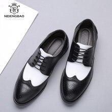 Spitzen Kuh Leder herren Schuhe Atmungsaktiv Mit Loch Casual Schuhe für Männer Mode Mischfarben Business Mann Schuhe Plus größe 48