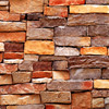 3D Stone Wall Wallpaper Roll Country Style