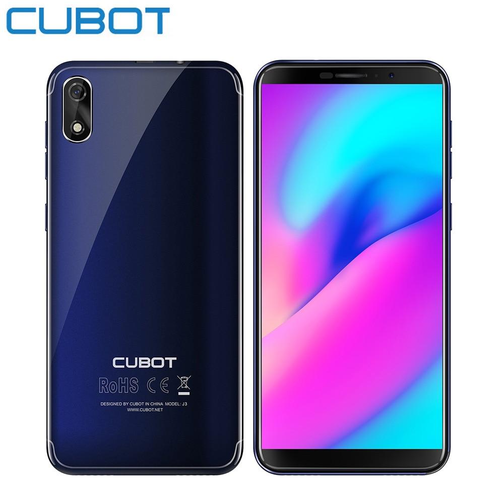 Cubot J3 3g Smartphone 5.0 ''Écran Glonass Android ALLER MT6580 Quad Core 1 gb + 16 gb 8MP arrière Caméra D'empreintes Digitales GPS Mobile Téléphone