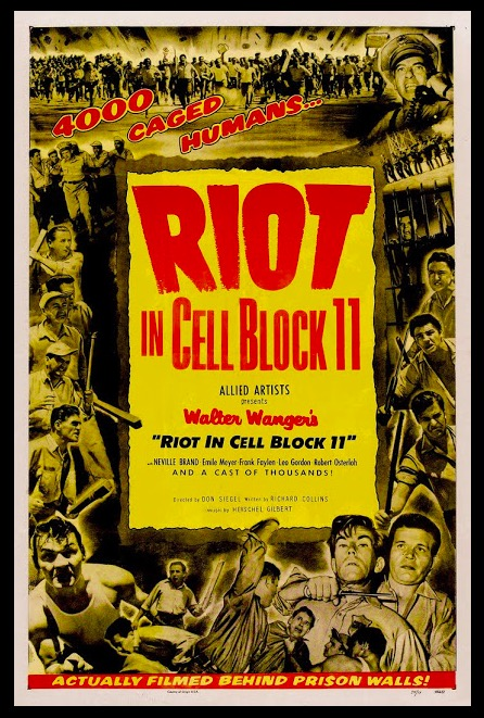 Riot in Cell Block 11 Sexy Beauty Classic Movie Film Noir Retro Vintage Poster Canvas Painting DIY Wall Paper Home Decor Gift image