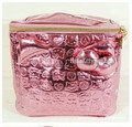 trousse maquillage femme Hello Kitty cartoon rose red Stereo cosmetic bag  Trunk have Zipper  PU material makeup bag