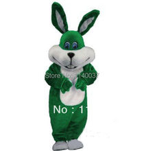 mascot New Green EASTER BUNNY mascot costume Easter holiday Adult Cartoon Character Mascotte Outfit(China)