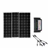 Kit Solar 300w Panneau Solaire 100 Watt 12 Spannung 3 Pcs Solar Laderegler 12 v/24 v 30A Yachten Caravamn Camping Auto
