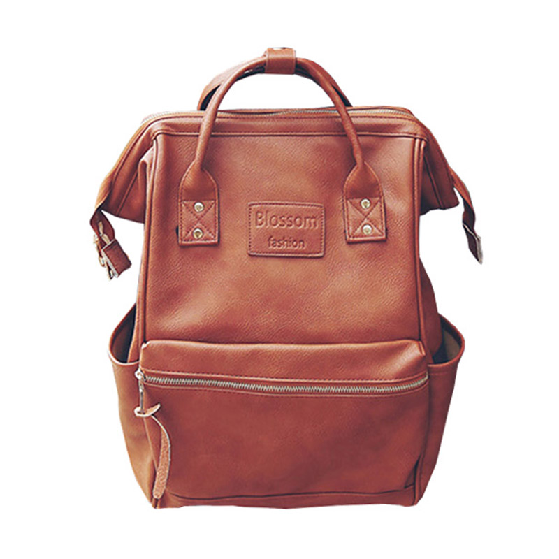 Us 21 78 29 Off Mummy Diaper Backpacks Fashion Ny Bag Large Capacity Baby Nursing Handbag High Quality Pu Leather Travel Backpack Mbg0150 In