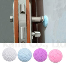 Self Adhesive Rubber Door Buffer Wall Protectors Door Handle Bumpers for Door Stopper Doorstop(China)