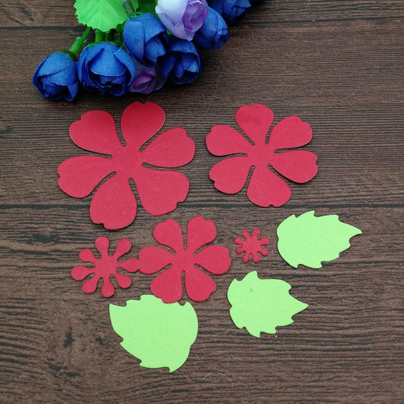 8pc Flower Spring Leaf Metal Cutting Dies Stencil Scrapbooking Photo Album Card Paper Embossing Craft Diy #2