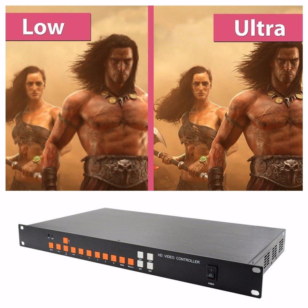 LINK-MI LM-SH41-4K2K PIP POP ռեժիմ RS232 IR VGA DisplayPort USB HDMI տեսանյութերի պրոցեսոր HD 4K Video Quad Multiplexers