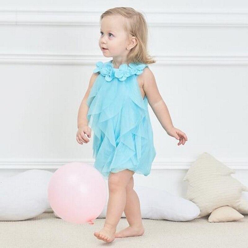 Tonlinker Girls Princess dresses Summer chiffon flower Costume Infant 1 Year Birthday Dress Baby Girl Halloween Fancy dress