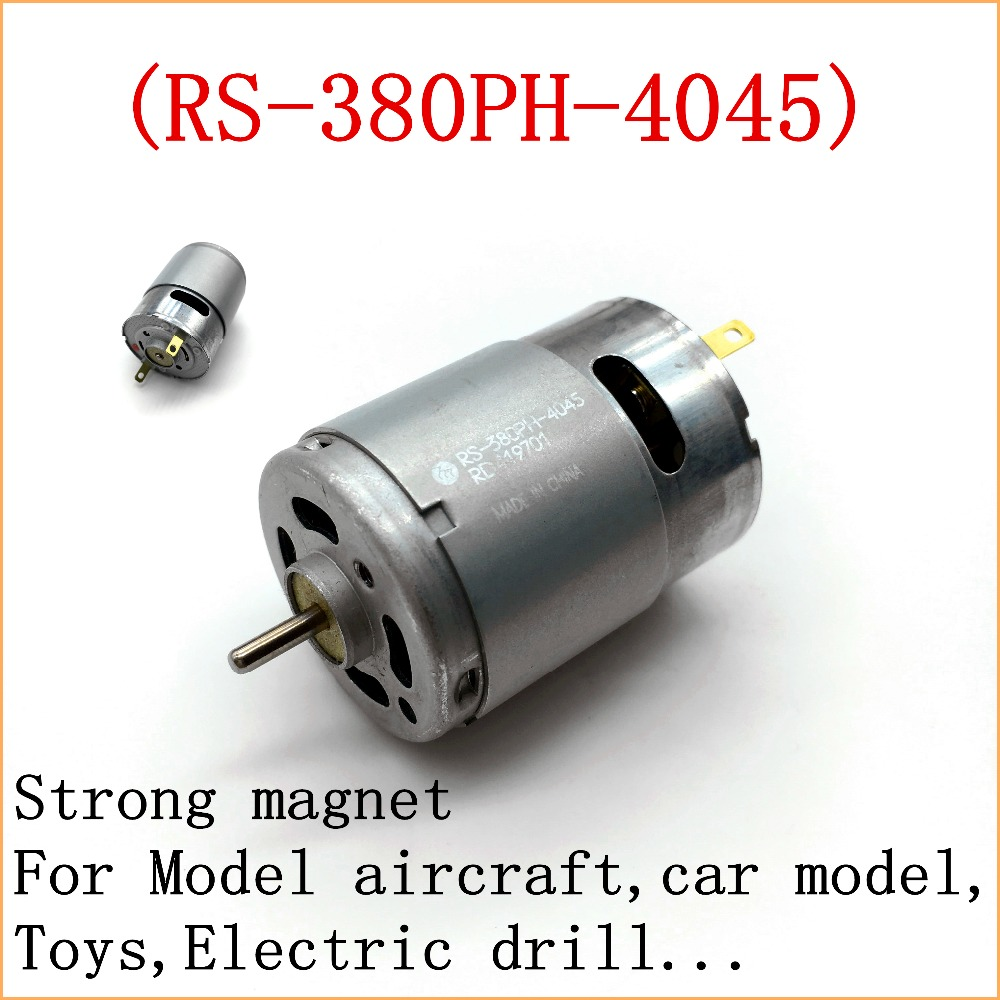 1pc good 380 dc motor high power high torque strong magnet for Model aircraft electric motors