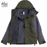 HanHent Waterproof Windproof Thick Jacket Outside Men S Warm Detachable Fleece Coat Fitness Hooded Clothing Fashion