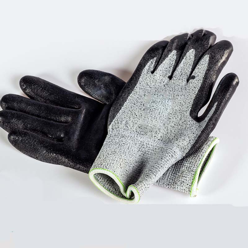 Anti-cut protective gloves wear-resistant anti-slip cut-resistant gloves high quality cut proof labor gloves breathable protective gloves 1 pair wear resistant anti slip nitrile coating knitted gloves