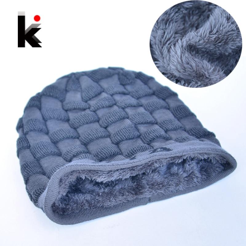 Winter Beanies Stocking Hat Bonnet Turban-Cap Balaclava Skullies Inverno Gorro Men