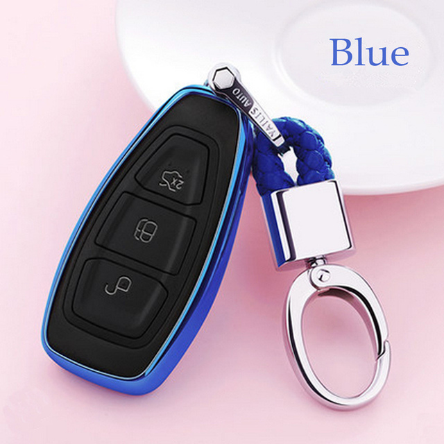 2019 New TPU Car Key Cover Case For FORD C MAX FOCUS RS ST Fiesta Hatch Soft TPU Car Shell Styling Key Shell Protection keychain