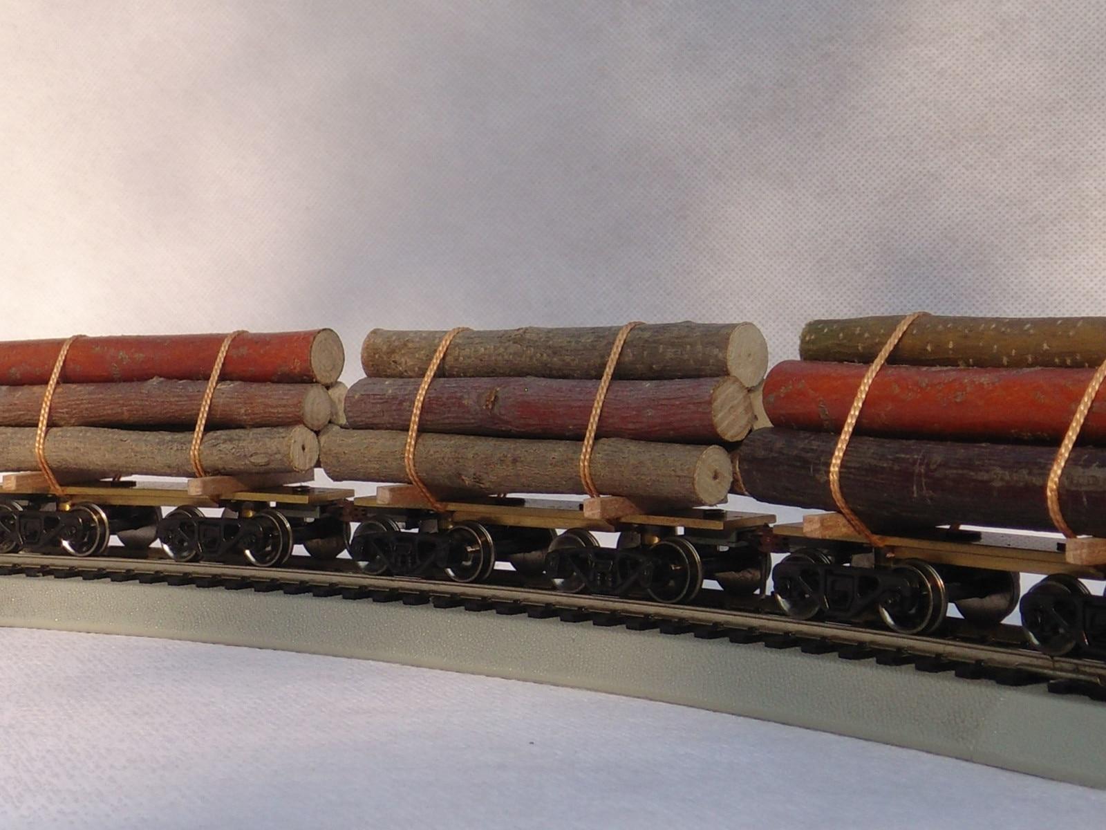 1: 87 HO échelle modèle Train bois avec roues y compris 6 pièces bois