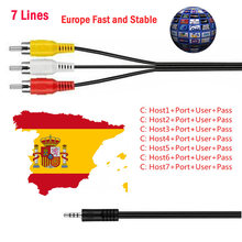 Eropa HD Kabel 1 Tahun Clines untuk TV Satelit Receiver 4/7 Clines Full HD DVB-S2 Dukungan Spanyol Chile jerman Clines Server(China)